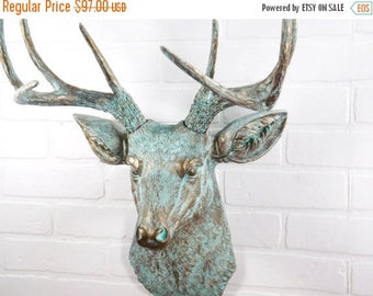 ON SALE Deer Head Wall Mount /  Deer Head / Faux Taxidermy / Deer Head Wall  Decor