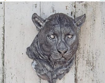 ON SALE Panther / Cougar / Faux Taxidermy  /Panther Decor / Panther  Head / Taxidermy /Your Choice COLOR