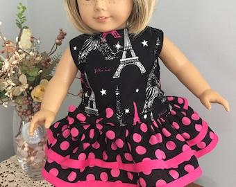 American Girl Doll Clothes - Paris Fabric Drop Waist Dress