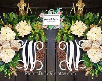 Double Door Wreaths Spring For Front Farmhouse Wreath