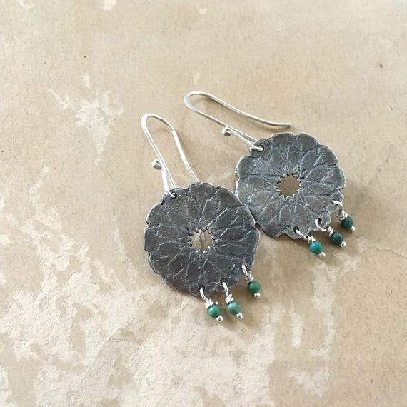 Chandelier Earrings | Turquoise Jewelry | Silver Dangle