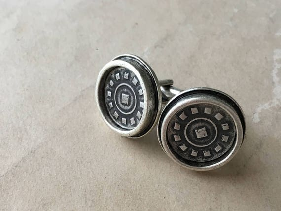 Silver Cuff Links | Father of the Bride Cuff Links | Suit Accessories
