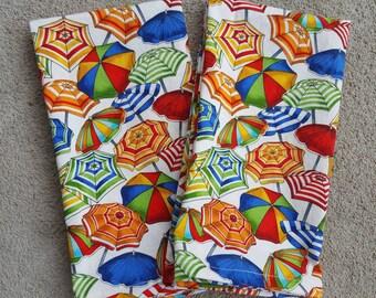 dinner cloth napkins- beach umbrellas