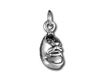 Baby Shoe Charm // Silver Shoe // Silver Baby Shoe