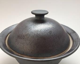 Gunmetal Grey Lidded Serving Dish