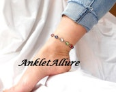 CONFETTI Rhinestone Ankle Bracelet Stainless Steel BLING Anklets for Women GUARANTEE