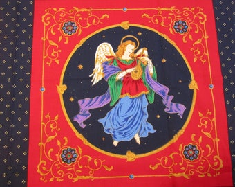 """CHRiSTMAS ANGEL PiLLOW PANEL QUiLT SQUARES 1-1/2 yards x 45"""" wide"""