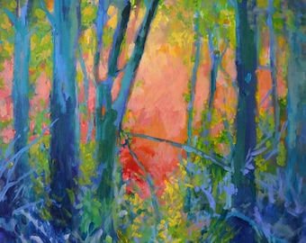 Summer Solstice Art Print Summer light in the forest