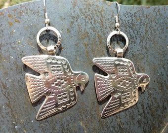 Thunderbird Earrings, birds, Bird Earrings, southwestern Earrings, dangle and drop Earrings, Indian jewelry,Eagle Earrings,bohemian jewelry