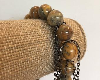 Agate fringe bracelet