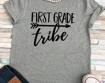 First Grade Tribe Teacher Shirt/ Plus Sizes
