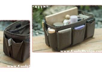 Purse organizer Insert lightweight bag organizer Extra Sturdy Medium and Large in Solid Brown