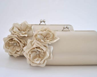 Champagne Clutch / Bridal clutch / Bridesmaid clutch / CUSTOM clutch