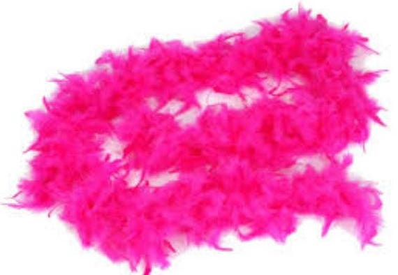 Christmas Hot Pink Feather Garland Decoration Decor Ornament - Pink Feather Christmas Tree