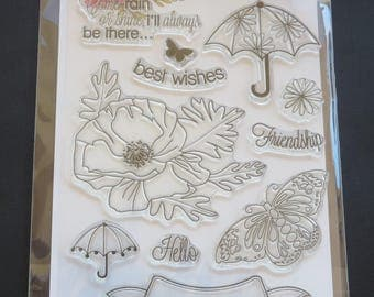 """Come Rain Or Shine - Penny Black Clear Stamps 5""""X7"""""""
