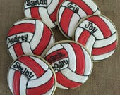 Custom order for justjenny22 - 18 volleyball cookies