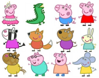 PEPPA PIG - Machine Applique Embroidery - Patterns - Instant Digital Download
