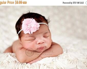 12% off Baby headband, newborn headband, adult headband, child headband and photography prop The single sprinkled- MINI chiffon pearl headba