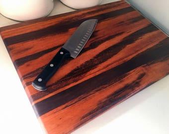 Goncalo Alves (tigerwood) and Walnut Cutting Board