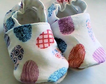 Brightly Colored Eggs! Baby Shoes!