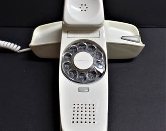Vintage Telephone ivory off white trimline rotary dial phone Western Electric