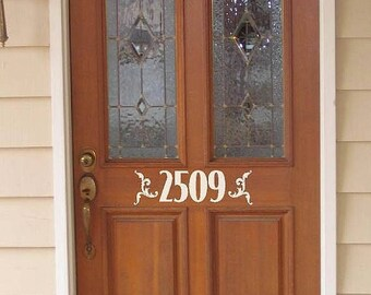 20% OFF Custom  door house numbers  -Vinyl Lettering wall words graphics Home decor itswritteninvinyl