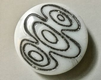 Mid Century Design Czech Glass Buttons for Sewing and Crafts