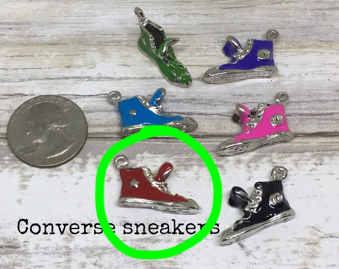 Shoe charm necklace RED