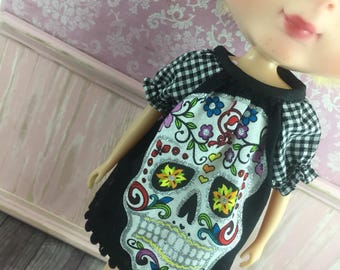 Blythe Smock Dress - Calavera  Skull Candy