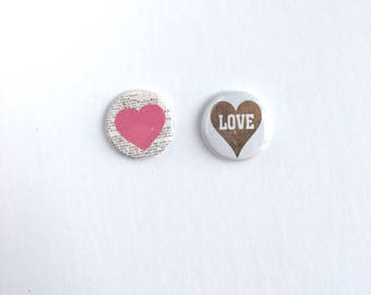 Love Badge Flair Buttons