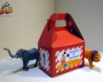 Carnival Circus Treat Box Labels (DIY Printable File)