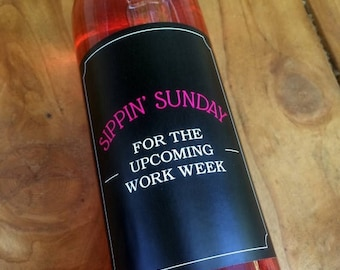 Workday Wine Labels, Bad Day, Cheer Up Wine, Rough Day, Stress, Bad Day at Work, Stressful Day, Label, Unique Gift, Bridal Shower Gift, Bos