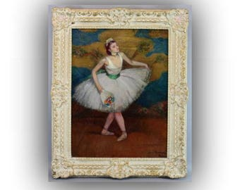 On HOLD Early 20th C American Art - Oil on Canvas - Ballerina by Louis Kronenberg