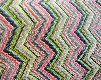 Ex Italian Designer Chevron Zigzag Festival Skirt or Dress Multicoloured Fabric