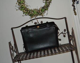 Sweetheart Sale Vintage Bally Bag Made in Switzerland~Black Bally Bag