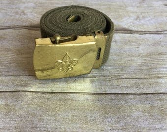 Collectible Boy Scout Belt - Gold and Green