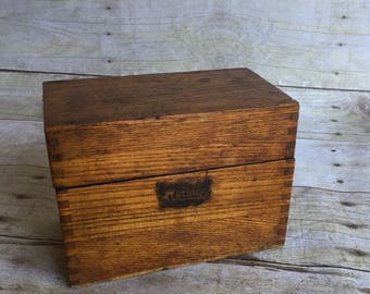 Vintage Recipe Wooden Box
