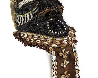 Kuba Bwoom Royal Helmet Mask Congo African Art Gelb Collection 111528 SALE WAS 650