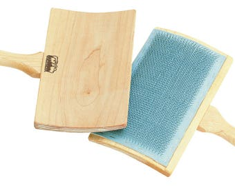 Schacht Hand Carders, All Purpose Wool Carders, 72 TPI, Hand Cards, Wool Processing, Makes Rolags, Batt, Curved, Ergonomic
