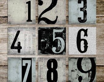 Vintage Industrial Typography Number Prints from Curious London