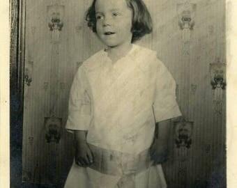 "Vintage Photo ""Moment of Margie"" Snapshot Antique Black & White Photograph Paper Found Ephemera Vernacular Interior Design Mood - 70"