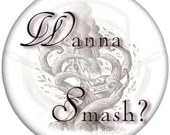 "Harry Potter - Inspired Wanna Smash? 2.25"" Pinback Button"