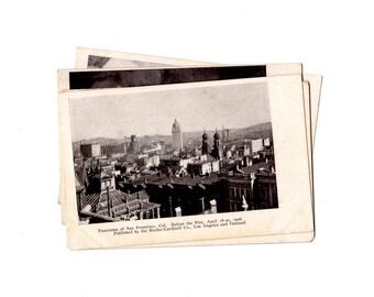 4 Vintage 1906 San Francisco Earthquake and Fire, San Francisco California Unused Postcards