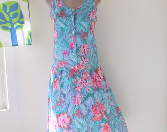 1960s BLUEHAWAIIAN Dress....size medium to large womens.....pink dress. retro. day dress. twiggy. wiggle. twirl. mod. shift dress. summer