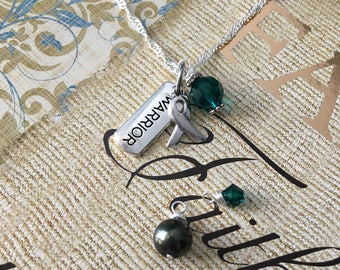 Mitochondrial Disease, Bipolar Disorder, Glaucoma Awareness Warrior Necklace - Sterling Silver