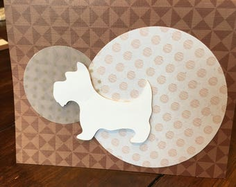 Father's Day Westie card