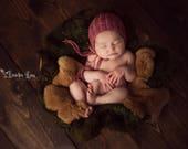 CUSTOM ORDER for Pixelated310 -- Ribbed Sitter Bonnet Sitter Photo Prop Sitter Baby Bonnet Girl Bonnet Luxury Bonnet Photo Prop Bonnet