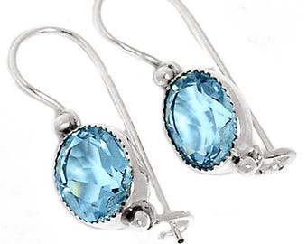 Very Beautiful Alexandrite Earrings, 925 Silver, Strengthens Creative Abilities, Changes Color Lilac to Light Blue
