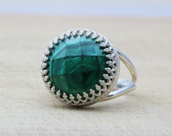 SALE - Malachite ring,silver ring,green ring,gemstone ring,proposal ring,energy ring,natural stone ring,emerald ring