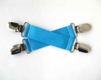 MITTEN CLIPS for Children - Blue Mitt Clips for Kids - Gift For Kids - Toddler Mitten Clips - Glove Clips for Kids - Boys Mitt String